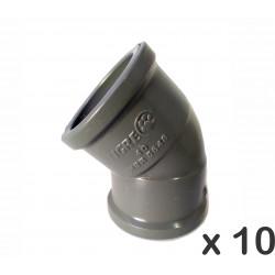 Codo Tigre Soldable 45º 40mm Hh X 10unid